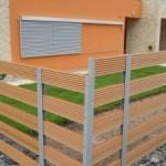 Dřevoplast v exteriéru – ploty, zábradlí, schody