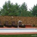 umely kamen obklady na stěnu wellness v zahradě, wellness vybavení domácí wellness