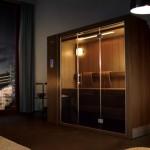 Jak vybrat saunu, malá sauna nebo velká sauna? Nová Smart sauna Klafs překvapí. Vysouvací sauna.