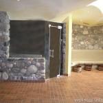 Originální kamenné dekorace v saunách a kolem saun