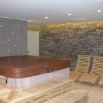 Domácí wellness centrum - pohodová atmosféra - umělý kámen ve wellness
