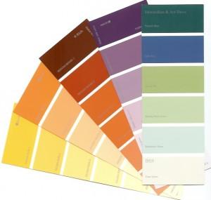 Barvy na kov vzorník
