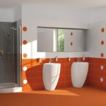 oranžová-koupelna