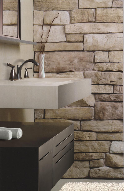 Obklad z umělého kamene v koupelně
