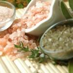 Peelingové saunové rituály pro domácí saunování- peeling do sauny - sůl do sauny