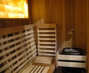 domácí sauna interiér